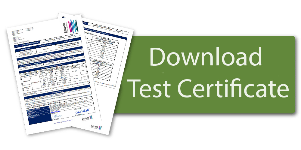 Download concertina fire curtain Test Certificate