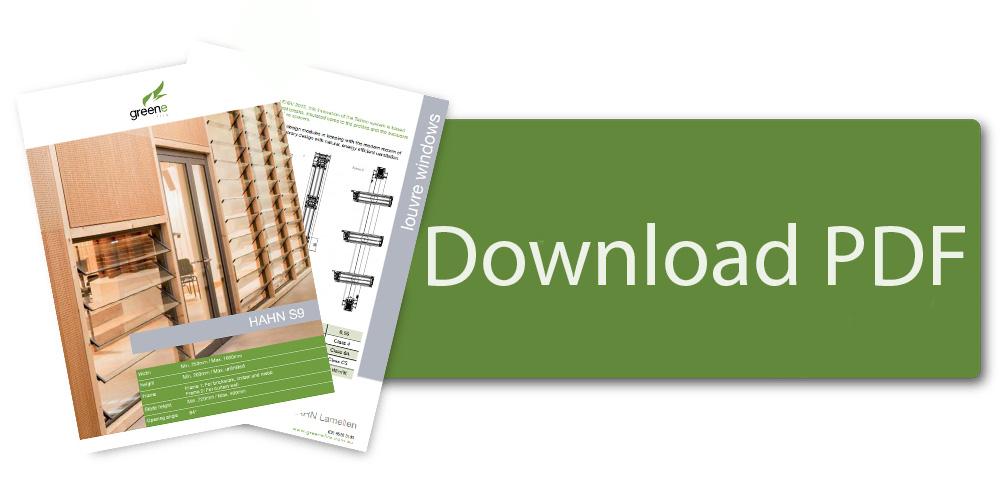 Download HAHN S9 Single Glazed Louvre Window Brochure