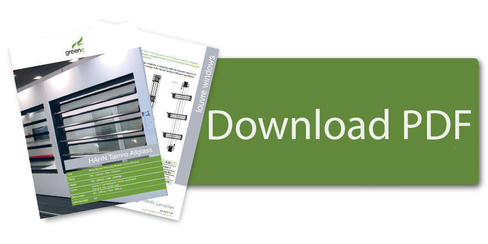 Download HAHN Tairmo Clear Triple Glazed Louvre Window Brochure