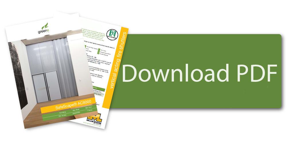 Download SafeScape AC8000 Side Folding Fire Shutters Brochure